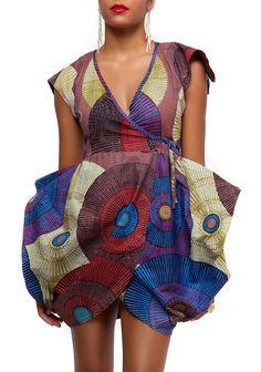 Tulip wrap dress by Afromania by Nkwo Latest African Fashion, African Prints, African fashion styles, African clothing, Nigerian style, Ghanaian fashion, African women dresses, African Bags, African shoes, Nigerian fashion, Ankara, Aso okè, Kenté, brocade etc DK