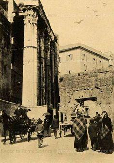 Roma sparita - via Bonella all'interno del Foro di Augusto nel 1903