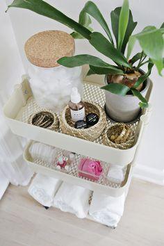 Bathroom cart, perfect for organizing everyday essentials.