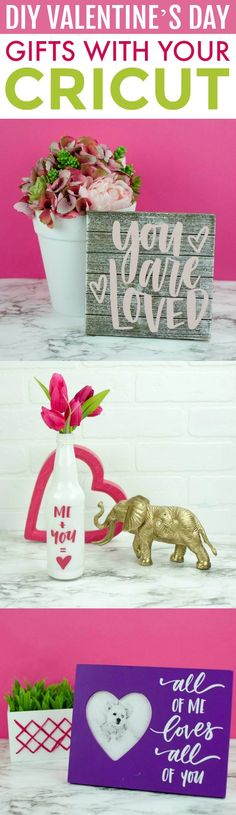You don't have to  be a master crafter to make these fun DIY Valentine's Day Gifts With Your  Cricut. Your friends and family are sure to enjoy them. #valentines #valentinesday #valentinesdaycrafts  #valentinesdayprojects #cricut #cricutcrafts #valentinesdaygiftideas  #valentinesdaygifts #valentinesdaydiy #diyvalentinesday #diyvalentinescrafts  #diyvalentinesdecor #diyvalentinesdaydecor