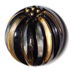 Vintage Black Glass Realistic Pumpkin Button - Medium by KPHoppe on Etsy