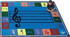The NoteWorthy classroom Carpet helps children understand how music notes are used to make joyful melodies. Music can be an invaluable addition to any classroom, playroom, or music room. Children can