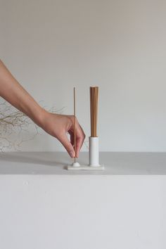 The Kura Studio Hold & Release incense holder not only looks beautiful it's also a practical solution to everyday storage of incense sticks. Diy Incense Holder, Clay Candle Holders, Ceramic Incense Holder, Ceramic Soap Dish, Gym Room At Home, Candle Lanterns, Candles, Ceramics Projects, Cool Inventions