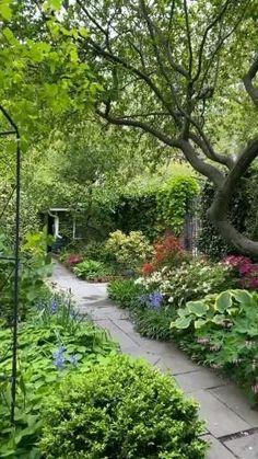 Diy Garden, Garden Cottage, Garden Paths, Backyard Garden Ideas, Cottage Front Yard, Front Garden Path, Japanese Garden Backyard, Front Yard Garden Design, Formal Garden Design