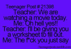 teenager posts. ♕ Sorry for the cussing but this is hilarious yet so true!
