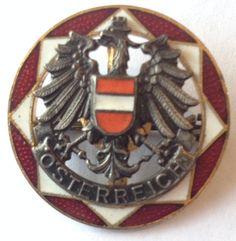 Vintage Enamel Osterreich Brooch Austria by OnTheRoadVintage $20. www.ontheroadvintage.etsy.com