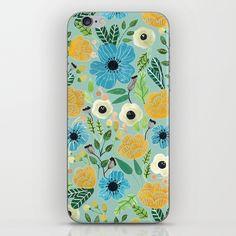 Luova - blue iPhone Skin by artiisan | Society6