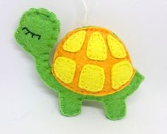 Felt turtle ornament for home decor animals kids room nursery