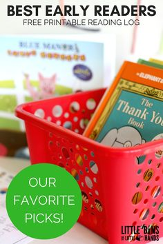 Best Early Reader Books and Free Printable Minifigure Reading Log. Our picks for best early readers for new readers, emergent readers, and reluctant readers. Elephant and Piggie, Blue Manor Education, Dr. Seuss, Bob Books.