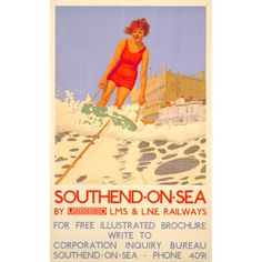 Southend-on-Sea; surfing - Charles Pears (1932)