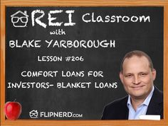 Today, Blake Yarborough talks to us about portfolio, or blanket, loans. These cover more than 1 loan and can provide simplicity for payments.