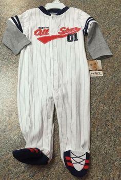 Check out this listing on Kidizen: Carter's White All Star Baseball Sleeper NWT via @kidizen #shopkidizen