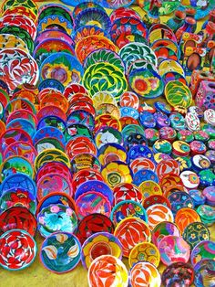 Mexican painted ceramic bowls
