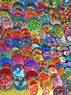 Folk Art Bowls - Jay Wiese Pottery