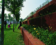 Tianjin Qiaoyuan Park by Turenscape Landscape Architecture Landscape Architecture, Landscape Design, Compound Wall Design, Drinking Hot Water, Wetland Park, Linear Park, Urban Park, Urban Furniture, Tianjin