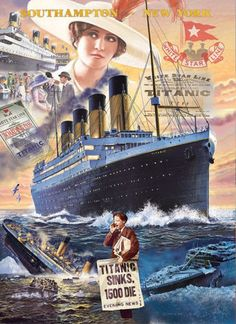 Puzzle Titanic Clementoni 1000 pieces from Large choice of Jigsaw Puzzles - Boats. Titanic Film, Titanic History, Rms Titanic, Titanic Ship Sinking, Titanic Wreck, Titanic Drawing, Southampton New York, Hale Navy, Vintage Travel Posters