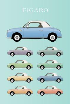 Nissan Figaro Illustration