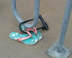 Make sure not to lose your flip-flops! They're valuable!