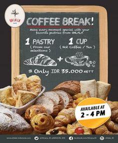 Oh Lala Cafe Promo Coffee Break http://www.perutgendut.com/read/oh-lala-cafe-promo-coffee-break/5639 #PerutGendut #Food #Kuliner #News #Indonesia #WisataKuliner
