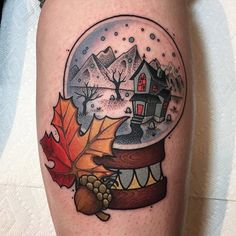Travel snowball tattoo