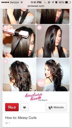 How To Curl Hair With A Straightener!