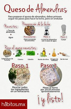 Procedimiento de como hacer un queso de almendras Clean Recipes, Raw Food Recipes, Veggie Recipes, Vegetarian Recipes, Vegan Life, Raw Vegan, Vegan Food, Healthy Cooking, Healthy Eating