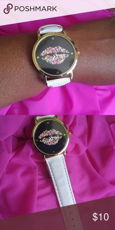 Hip Hot lips watch New, never worn. Super cute, vegan band. Get noticed in this. Accessories Watches