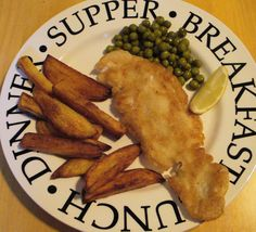 Fish and chips comme en Angleterre Fish And Seafood, Restaurant, Chicken, Style, Drizzle Cake, Garlic, Lemon, Other Recipes, Cod
