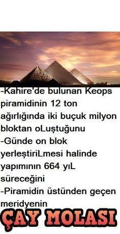 Kahire'de bulunan piramid - All the Interesting Information You're Wondering Here Diy School Supplies, Interesting Information, Cairo, Ancient Egypt, Did You Know, Karma, Seville, Einstein, Istanbul