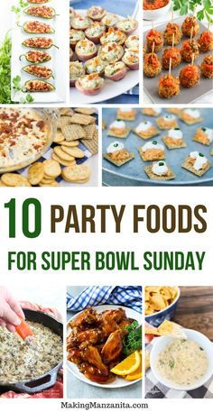 10 Party Foods For Super Bowl Sunday | Best Super Bowl Recipes | Awesome Football Party Snack Ideas | Easy and Healthy Appetizers | Cooking Ideas for Hosting Big Parties | Some are even Low Carb, Keto, Whole 30, Gluten Free #superbowl #recipes #partyfood #appetizer #party #appetizers