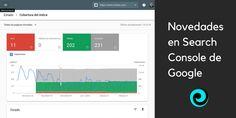 Google ha implementado la versión beta de su nueva y mejorada consola de búsqueda o Search Console para todos los usuarios verificados. La nueva interfaz es limpia, moderna y enfocada a una mejor usabilidad. Ahora es posible ver los datos de búsqueda histórica de 16 meses.