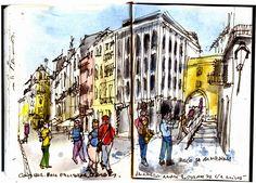 Eduardo Salavisa, desenhador do quotidiano: Coimbra