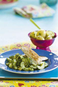 Citronkylling med avocadosalat og dildkartofler