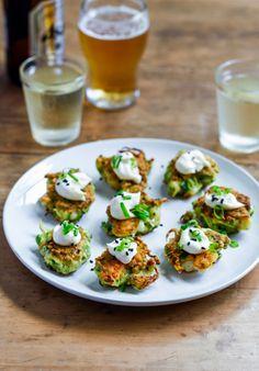 Asparagus, Prawn and Zucchini Bites with Sesame Mayo