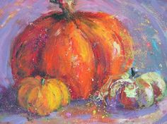 Amy Whitehouse Paintings: More Fairy Tales Acrylic Still Life With Pumpkins