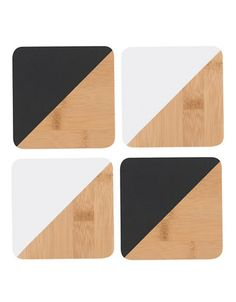 Brands | Barware  | Set of Four Dipped Angle Coasters | Hudson's Bay