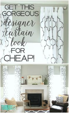 Yes!! An easy way to get designer-looking curtains for cheap! So worth it! | Details at TheTurquoiseHome.com