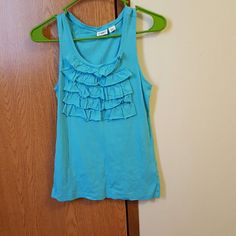 Catos tank top for ladies Cute little ruffles tank top for ladies. Hardly worn excellent condition. Cato Tops Tank Tops