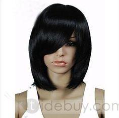 Fashion Medium Straight Capless 12 Synthetic Hair Wig : Tidebuy.com