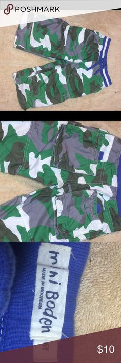 Boys cargo camo shorts These are so cute! They do seem to run a little bigger than regular 6's but I believe it's because they are meant to be longer.  Or my son was just short! They are so bright and cute! Only worn a couple of times. Little Boden Bottoms Shorts