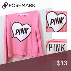 PINK VICTORIA'S SCERET sweater! Sequences! Super soft! Pink! Light weight! PINK Victoria's Secret Sweaters
