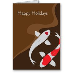 just love this koi fish holiday card. so peaceful and simple