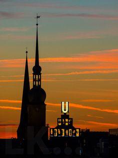 #Dortmund #DortmunderU #Reinoldikirche #aftersunset #sky
