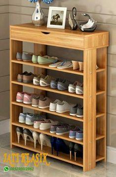 65 the best shoes rack design ideas that are trending today 52 Litledress Best Shoe Rack, Diy Shoe Rack, Shoe Storage, Shoe Racks, Storage Ideas, Wood Shoe Rack, Pallet Furniture, Home Furniture, Furniture Design