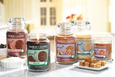 NEW Girl Scouts Cookies® Candle Collection! 4 mouthwatering scents - Thin Mints®, Trefoils®, Chocolate Peanut Butter and Coconut Caramel Stripes.
