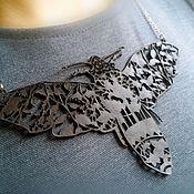 Купить или заказать Колье 'Летучая мышь №2' в интернет-магазине на Ярмарке Мастеров. Замшевое колье с орнаментом будет служить вам отличным украшением на хеллоуин.