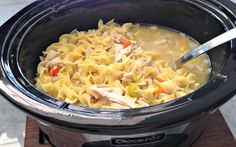 Slow Cooker Chicken Noodle Soup - Get Crocked Slow Cooker Recipes from Jenn Bare for Busy Families Crock Pot Slow Cooker, Crock Pot Cooking, Slow Cooker Chicken, Slow Cooker Recipes, Crockpot Recipes, Soup Recipes, Chicken Recipes, Cooking Recipes, Pasta Recipes