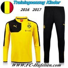 Schönsten Neue Fußball Trainingsanzug Dortmund BVB Kinder Kits Gelb 2016 2017 Meaney