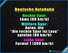 Ein ganz normaler Tag auf deutschen Autobahnen.