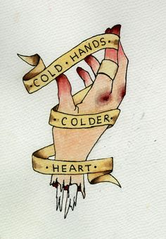 Mãos frias coração frio